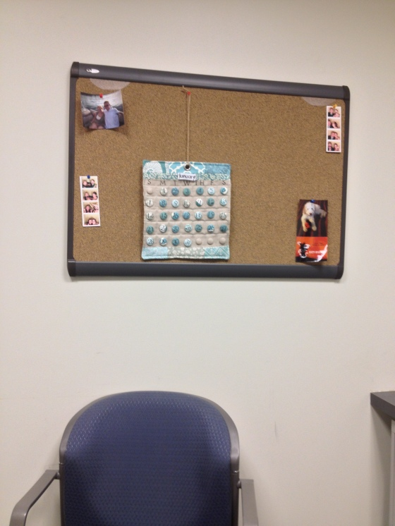 Calendar in Office (notice the picture of Gatsby!)
